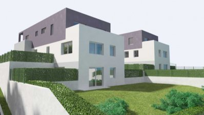 Mikulići, new building, beautiful two bedroom apartment with garden and garage
